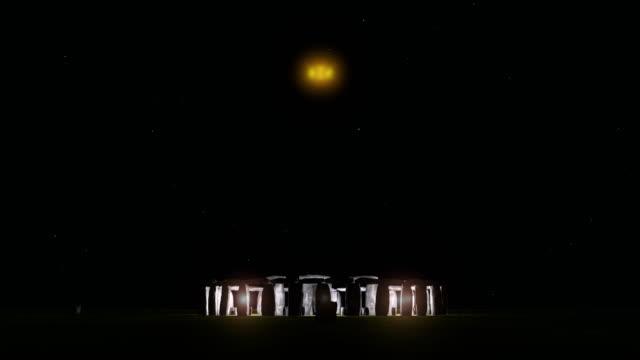 stonehedge night - aliens - obelisk stock videos & royalty-free footage