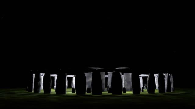stonehenge night - obelisk stock videos & royalty-free footage