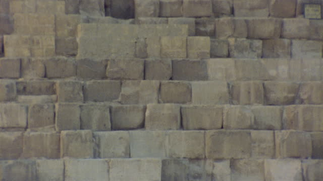 cu tu stones surrounding newer entranceway to kheops pyramid / giza, egypt - building entrance stock videos & royalty-free footage