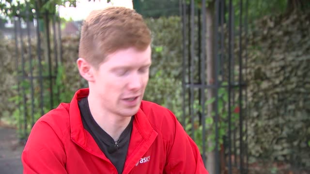 stonewall survey on homophobia in sport london tom bosworth sitting at table with reporter and interview sot on coming out as a sports person... - homophobia stock videos and b-roll footage