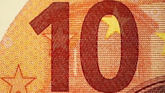 stockvideo's en b-roll-footage met stop animatie abstract motion image van €10 bankbiljetten valuta van de europese unie - tien euro