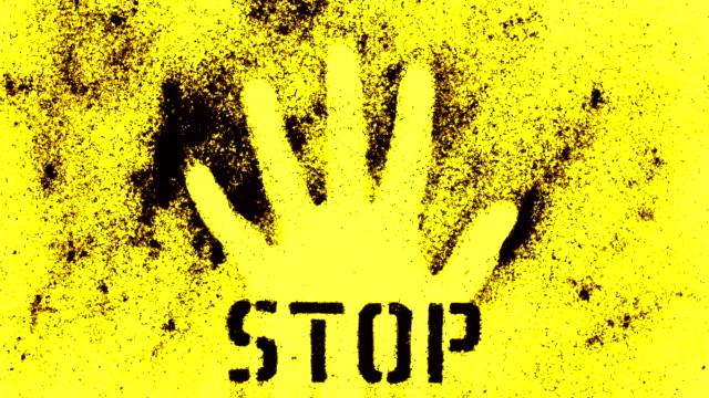 stop danger - stop single word stock videos & royalty-free footage