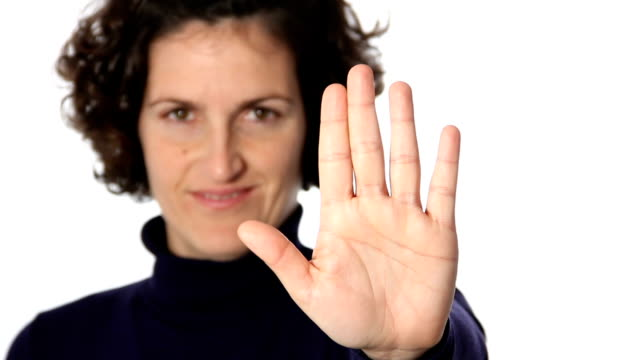 stop gesture - stop sign stock videos and b-roll footage