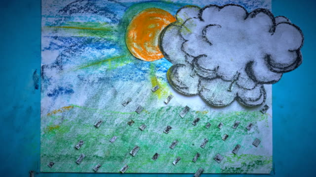 a stop motion animated cloud, with pouring rain - hope stock videos & royalty-free footage