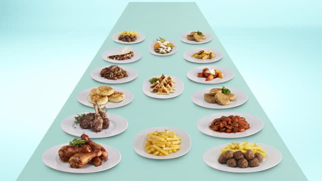 stop motion dinner table - large group of objects stock videos & royalty-free footage