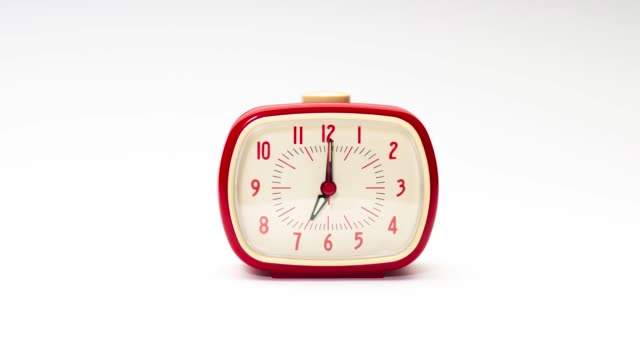 stop motion of alarm clock - stop watch stock videos & royalty-free footage
