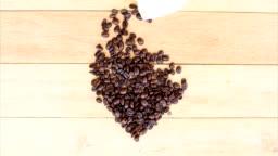 Stop motion of coffee bean like heartbeat