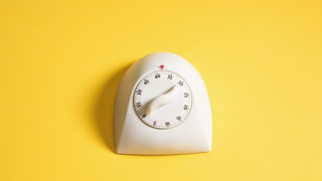 stop motion of kitchen timer - yellow stock videos & royalty-free footage