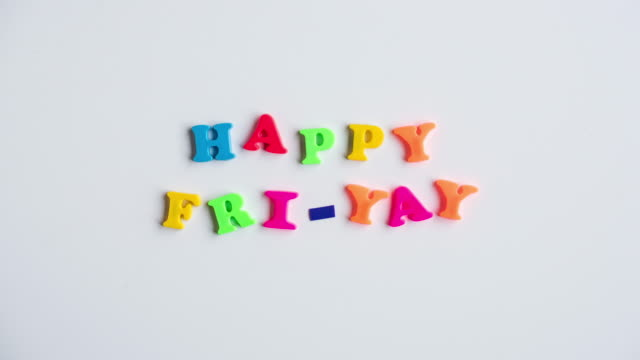 stop motion of magnetic letters - friday stock videos & royalty-free footage