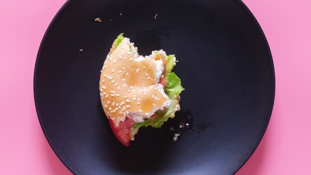 stop motion video of fresh tasty burger. - animation moving image stock videos & royalty-free footage