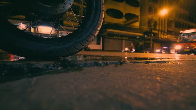 Stop Motorcycle at dark