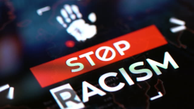 stop racism social issues background - anti racism stock videos & royalty-free footage