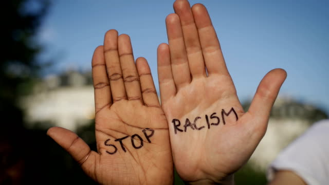stop racism-b roll - social justice concept stock videos & royalty-free footage