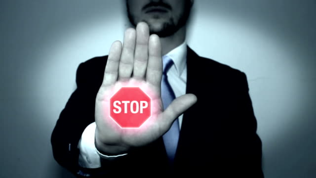 stop sign animation in hand - stop sign stock videos and b-roll footage