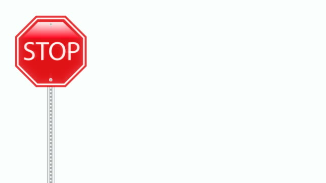 stop sign background loop - stop sign stock videos & royalty-free footage