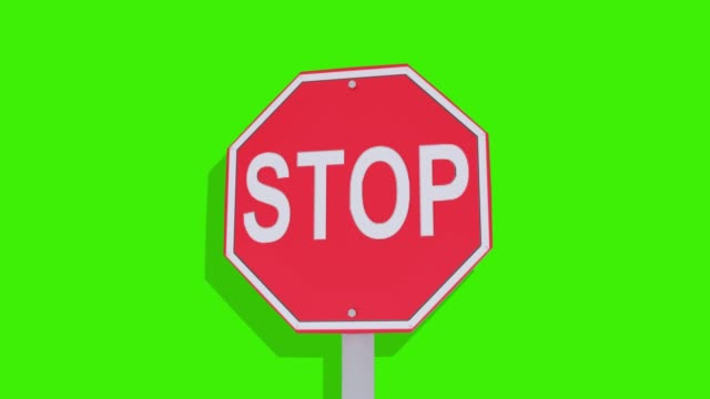 stop sign transtion on green screen - stop sign stock videos & royalty-free footage