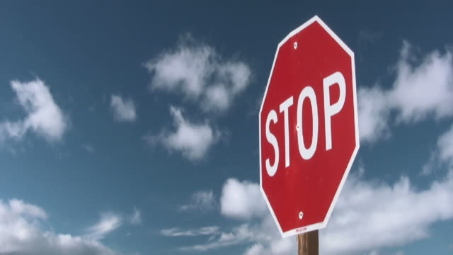 stop sign - stop sign stock videos & royalty-free footage