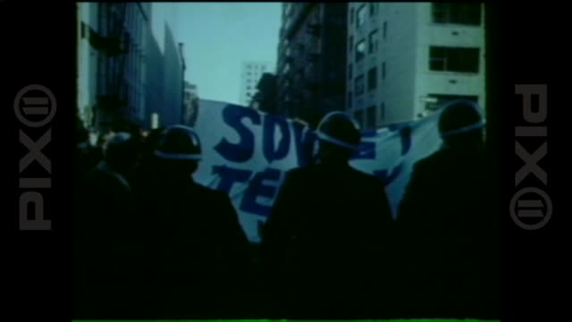 stop the trials protest student struggle for soviet jewry in new york new york - former soviet union stock videos & royalty-free footage