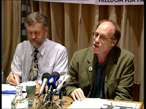 stop the war coalition press conference england london labour mp's gather for press conference of 'stop the war coalition' / jeremy corbyn mp at... - jeremy corbyn stock-videos und b-roll-filmmaterial
