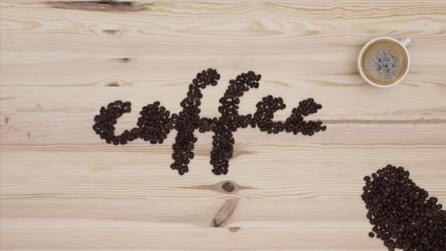 Stop-motion animation style coffee