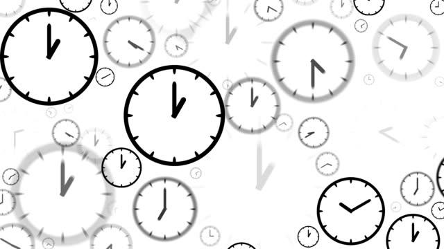 clocks : stopping at 1:00 o'clock (loop) - minute hand stock videos & royalty-free footage