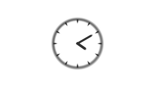 clock : stopping at 12:00 o'clock (wipe) - clock stock videos & royalty-free footage