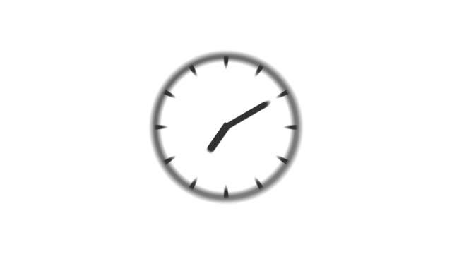clock : stopping at 3:00 o'clock (wipe) - number 3 bildbanksvideor och videomaterial från bakom kulisserna
