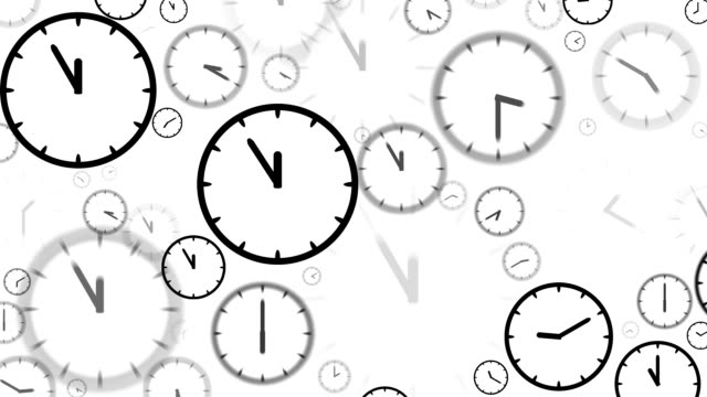 clocks : stopping at 5 to 12 o'clock (loop) - number 5 stock videos & royalty-free footage