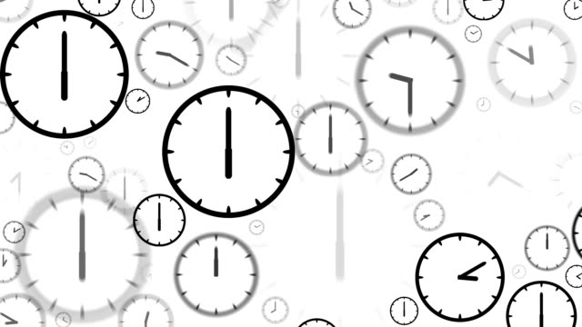 clocks : stopping at 6:00 o'clock (loop) - number 6 stock videos & royalty-free footage