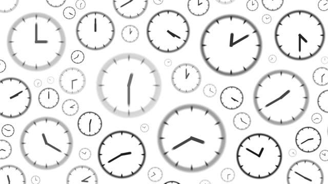 vídeos de stock, filmes e b-roll de relógios: parar às 8h horas (continuação) - número 8