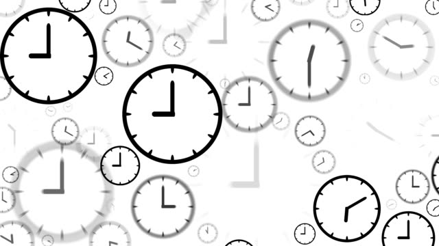 CLOCKS : stopping at 9:00 o'clock (LOOP)