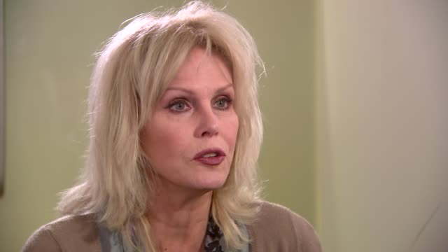 Joanna Lumley interview on ivory trade ENGLAND London INT Joanna Lumley interview SOT unless the rest of the world holds up its fists to China says...