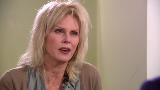 stopping the slaughter: joanna lumley interview on ivory trade; joanna lumley interview sot - i don't care for the idea of shooting anything for... - tiro al piattello video stock e b–roll
