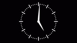 Stopwatch animated icon. Clock with moving arrows. Time run. Cartoon flat animation of UI element