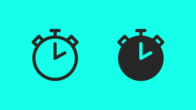 stopwatch icons - vector animate - conto alla rovescia video stock e b–roll