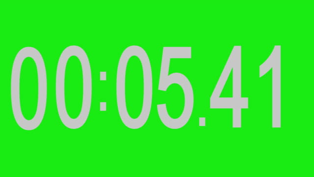 stopwatch numbers green background - stop watch stock videos & royalty-free footage