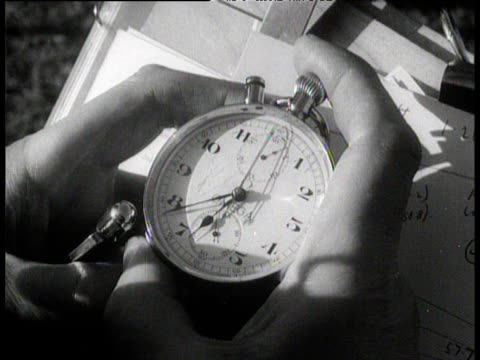 Stopwatch used to time Roger Bannister's record breaking sub four minute mile Iffley Road Oxford 6 May 1954