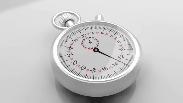 3d stopwatch - stop watch stock videos & royalty-free footage