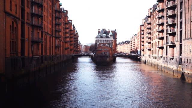 storage city in hamburg - hamburg germany stock videos & royalty-free footage