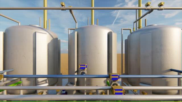 製油所のタンク - 空気弁点の映像素材/bロール