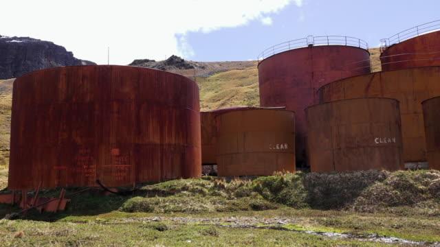 Storage tanks, Grytviken, South Georgia, Southern Ocean