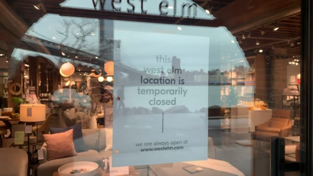 store closes in new york. across the country, schools, businesses and places of work have either been shut down or are restricting hours of operation... - closed stock videos & royalty-free footage
