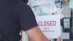 Store closing due to the Covid-19 virus pandemic.