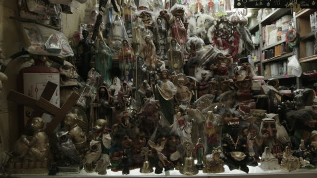 store in mexico with religious figurines - afterlife stock videos and b-roll footage
