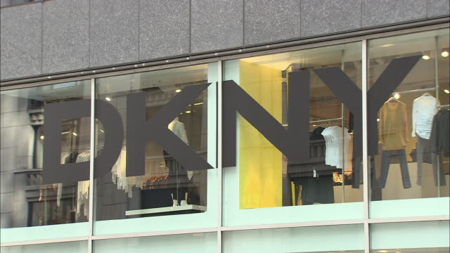 cu, dkny store window display, madison avenue, new york city, new york, usa - intellectual property stock videos & royalty-free footage