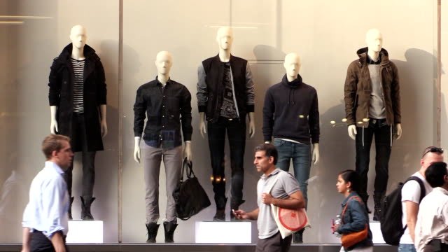storefront mannequins in manhattan new york city - high street stock videos & royalty-free footage