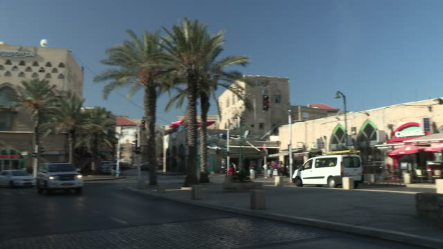 stores and the street, jaffa, israel - jaffa stock videos & royalty-free footage