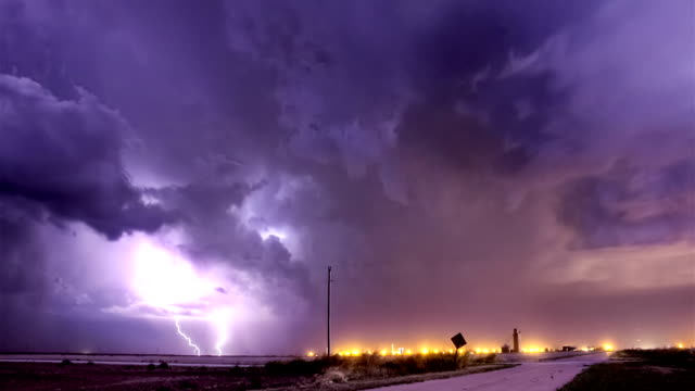 storm approaching town - lightning stock videos & royalty-free footage