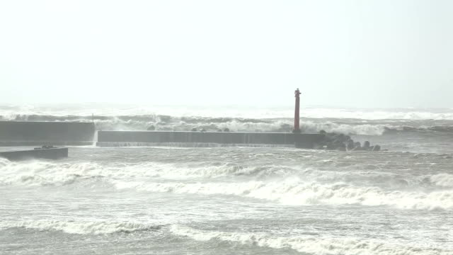 Storm at ocean