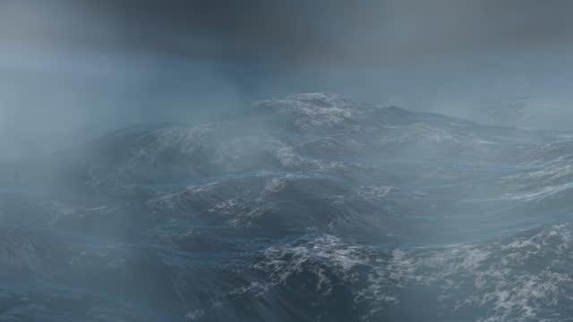 海の嵐 - loop - タイタニック号点の映像素材/bロール